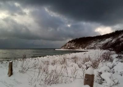 Klosterbucht mit Hucke im Winter (Feb. 2021)
