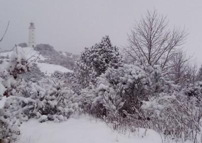 Winterliches Hochland mit Leuchtturm (Feb. 2021)