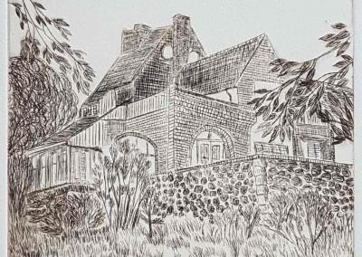"""Radierung """"Lietzenburg"""" (1998) von Cornelia DAHLKE"""