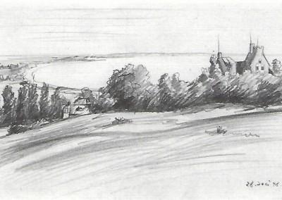 """Eggert GUSTAVS (1909-1996), """"Lietzenburg"""", Bleistift auf Papier (1948)"""