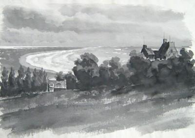 """Eggert GUSTAVS (1909-1996), """"Lietzenburg"""", Tusche (undatiert, ca. Ende 1940er Jahre)"""