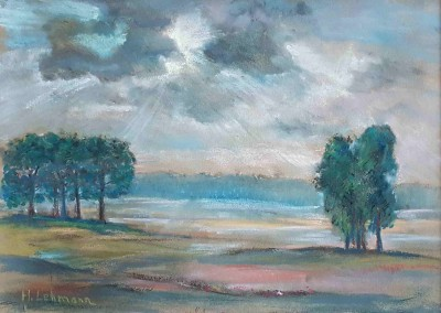 """Henni LEHMANN (1862-1937), Aquarell """"Hiddensee-Landschaft"""" (undatiert)"""
