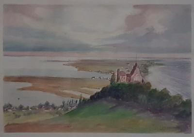 """Lietzenburg Kunst - Aquarell """"Lietzenburg"""" (undatiert) von Henni LEHMANN (1862-1937)"""