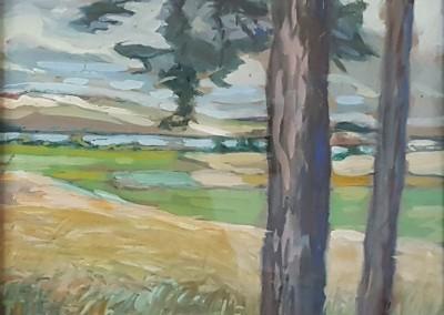 """Lietzenburg Kunst - Aquarell """"Hiddenseelandschaft"""" (undatiert) von Julie WOLFTHORN (1864-1944)"""