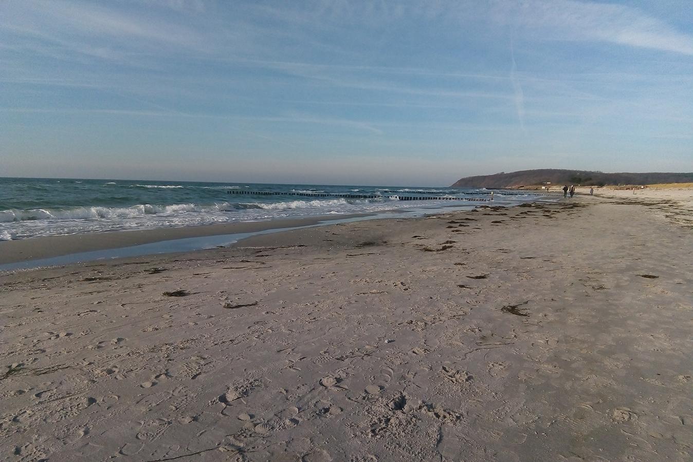 Insel Hiddensee - Vitte Strand mit Blick zum Dornbusch