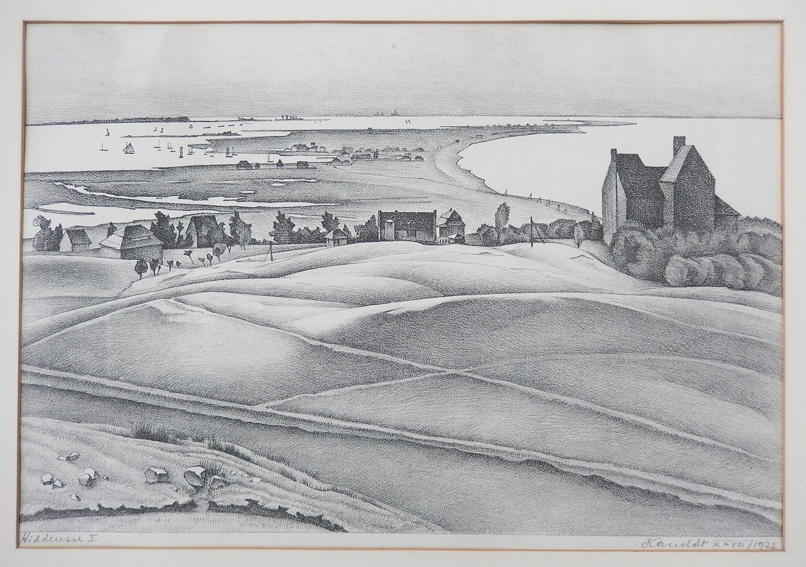 """Lietzenburg Kunst - Lithographie """"Hiddensee I"""" (1927) von Alexander KANOLDT (1881-1939)"""