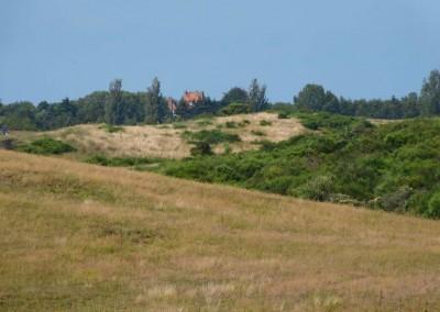 Lietzenburg-Umgebung - Blick vom Hochland auf die Lietzenburg